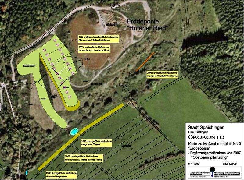 Luftbild der Baumaßnahmen an der Erddeponie