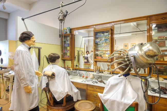 Historischer Friseursalon im Gewerbemuseum