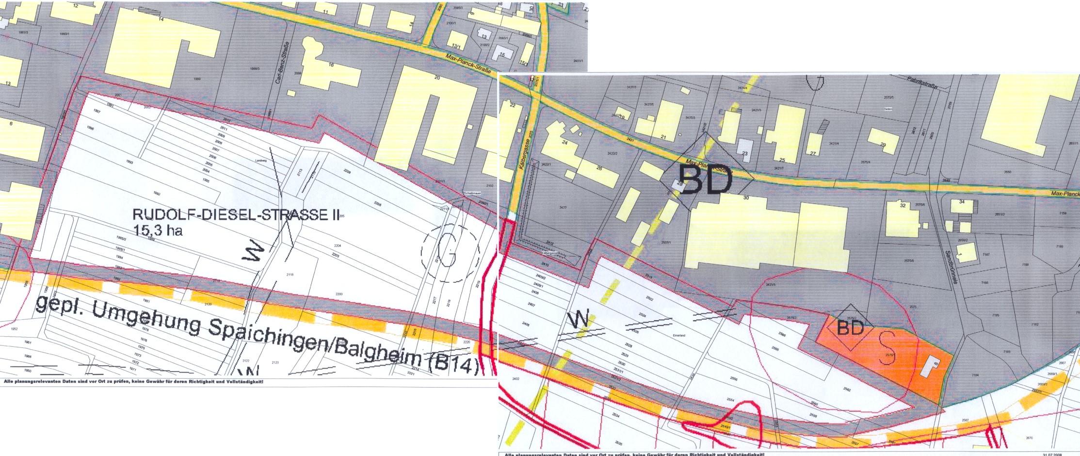 Lageplan Gewerbegebiet Rudolf-Diesel-Straße 2