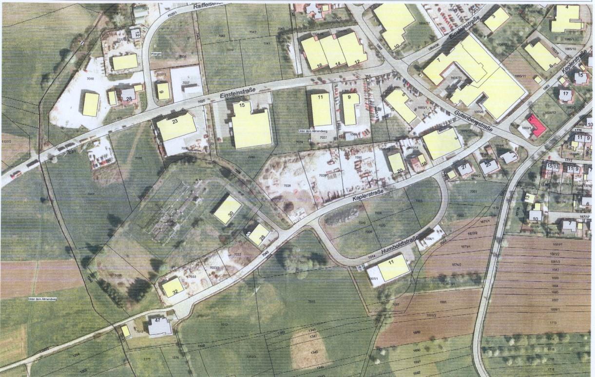 Luftbild Gewerbegebiet Wangen 2