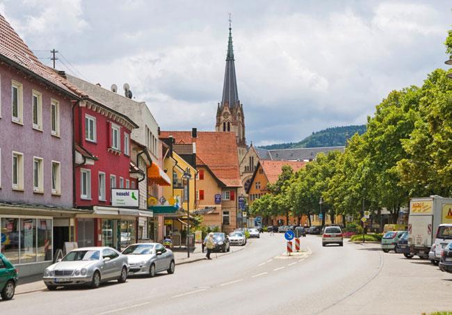 Innenstadt mit Blick auf die Kirche