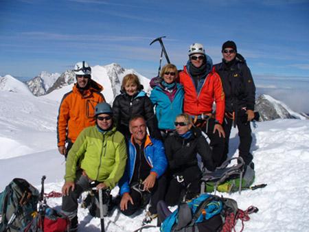 Spaichinger Bergsteiger auf dem Piz Palü