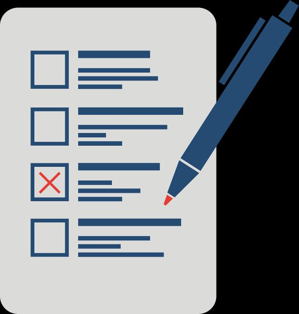 Wahlen-Stimmzettel