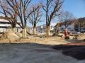 Baustelle Kreuzplatz am 18.03.2020