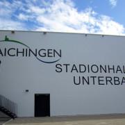 Aussenasicht der Sporthalle Unterbach