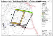 Bildausschnitt Bebauubungsplan Max-Planck-Strasse VI. 6, Änderung Spaichingen