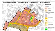 Bildschirmausschnitt Bebauungsplan Angerstraße - Vorgasse