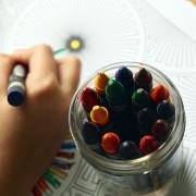 Buntstifte vom Kindergarten