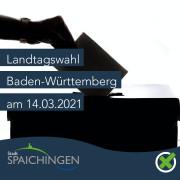 Werbung für die Landtagswahl am 14.03.2021