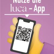 Poster Werbekampagne der IHK für die Luca-App