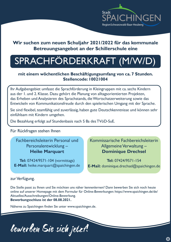 10021004 Sprachförderkraft Schillerschule