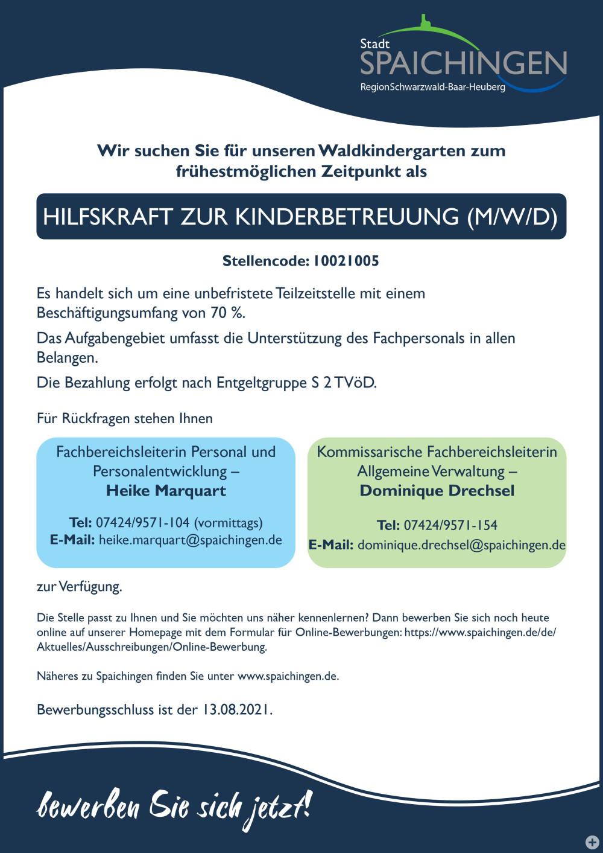 10021005 Hilfskraft Waldkindergarten