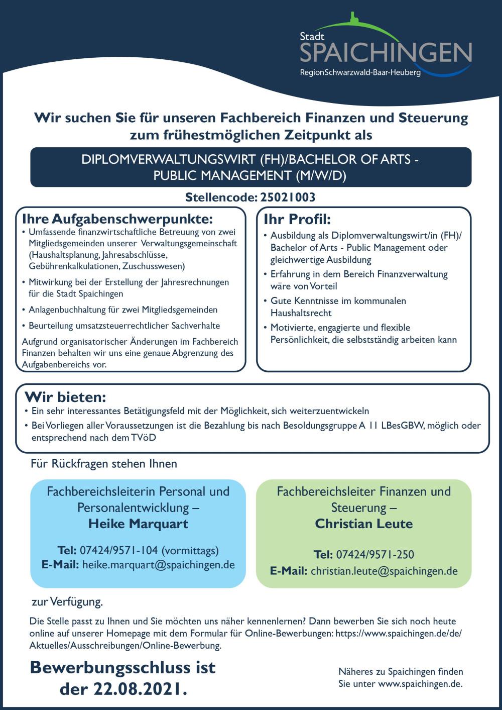 25021003 Diplomverwaltungswirt